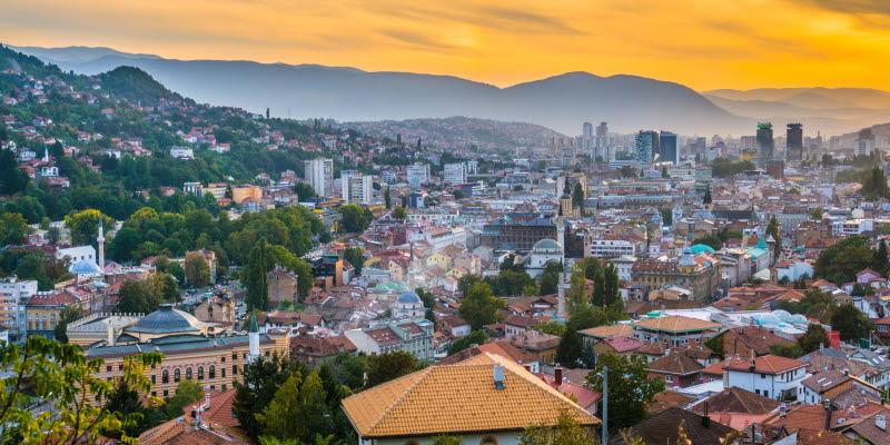 Utsikt över staden Sarajevo