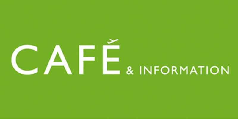 Café and information logo