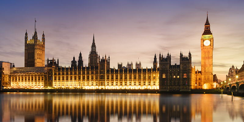 London at night: Houses of Parliament and Big Ben