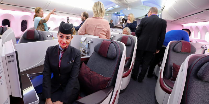 Opening of Qatar's direct route to Doha