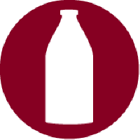 A bottle of milk as a symbol for lactose free food