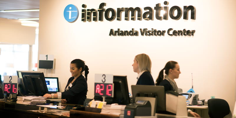 Arlanda Visitor Center information