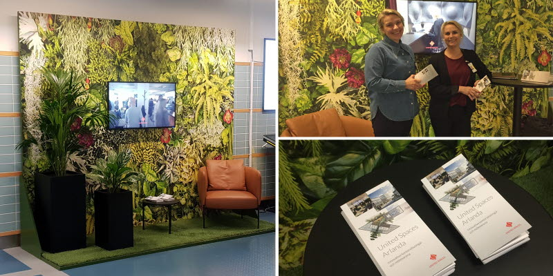 The Unitied Spaces stand at Stockholm Arlanda