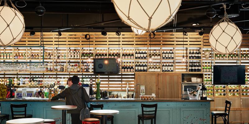 Inside of Scrimshaw Bar