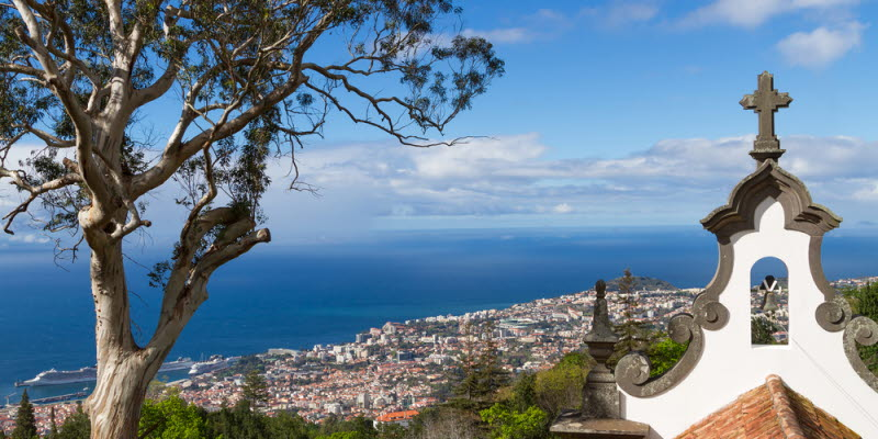 View over sea in Madeira