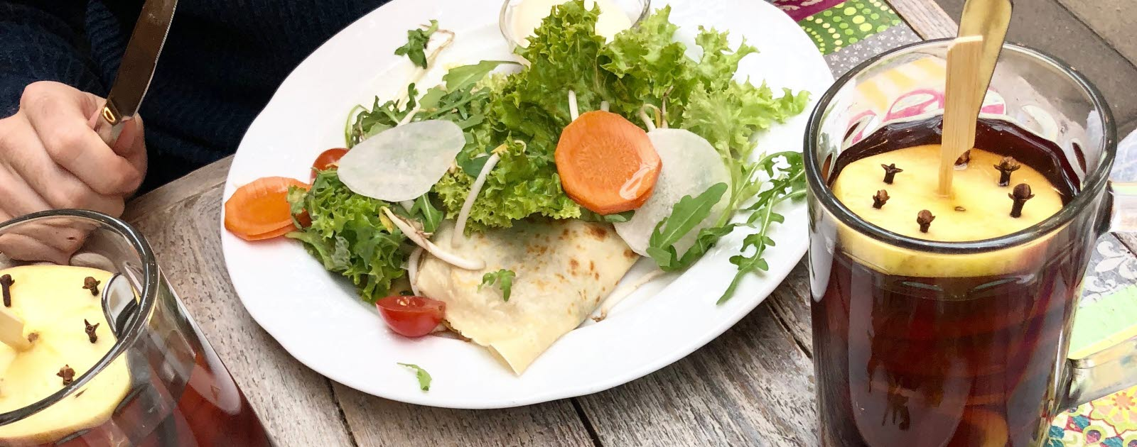Crepes till lunch i Warszawa