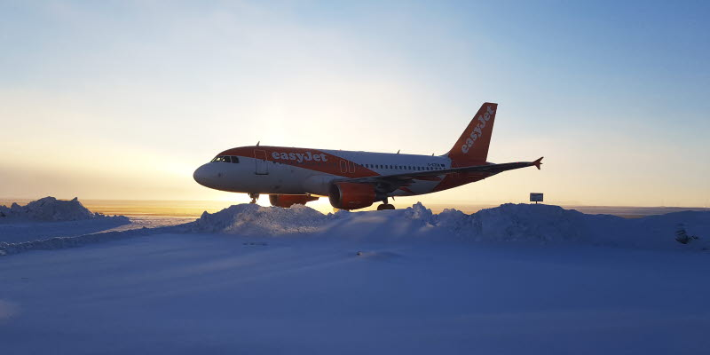 easyjet airplane at Åre Östersund Airport