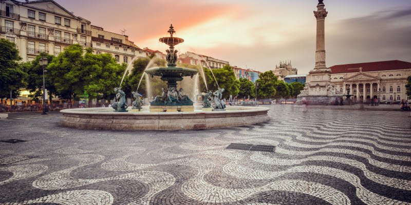 Square in Lisbon