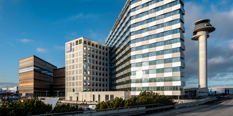 Office One, Comfort Hotel Arlanda and tower control