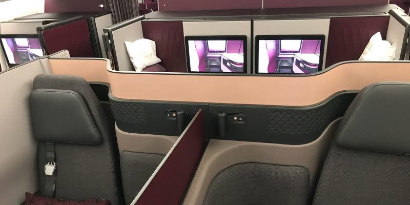 QSuite på Qatar Airbus A350-900