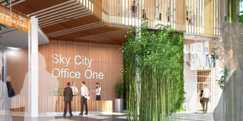SkyCity Office One skiss